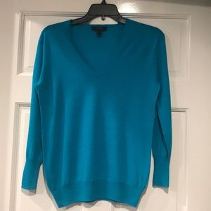J Crew V-Neck Merino Wool Sweater